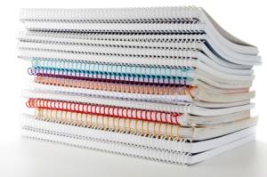 Pile of handouts