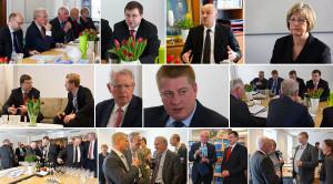 Collage visit Prime Minister Dombrovskis